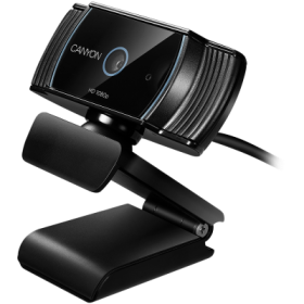 Canyon CNS-CWC5 FullHD USB mikrofonos fekete webkamera