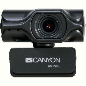 Canyon CNS-CWC6 QuadHD USB mikrofonos fekete webkamera