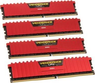 Corsair Vengeance LPX 4x8GB 2666MHz DDR4 Piros (CMK32GX4M4A2666C16R)
