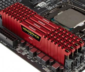 Corsair Vengeance LPX 16GB (4x4GB) 3000MHz DDR4 Piros (CMK16GX4M4B3000C15R)