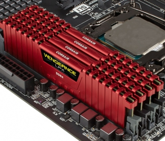 Corsair Vengeance LPX 16GB (4x4GB) 2666MHz DDR4 Piros (CMK16GX4M4A2666C15R)