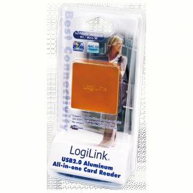 LogiLink CR0022 USB2.0 All in 1 alumínium kártyaolvasó - Narancssárga