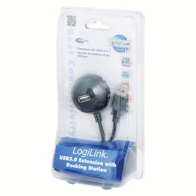 LogiLink USB2.0 hosszabbító dokkolóval (CU0013B)