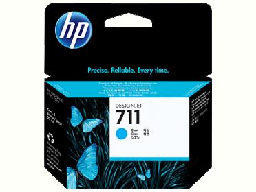 HP No 711 CZ130A ciánkék tintapatron