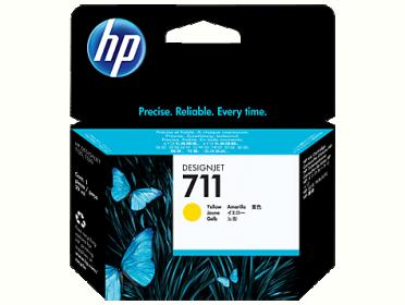 HP No 711 CZ132A sárga tintapatron