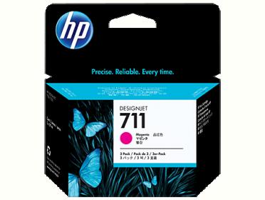 HP No 711 CZ135A 3db-os bíbor tintapatron