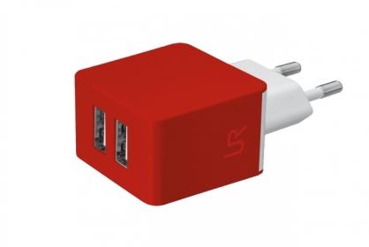 Trust Urban piros dupla USB-s töltőfej okostelefonhoz (20149)