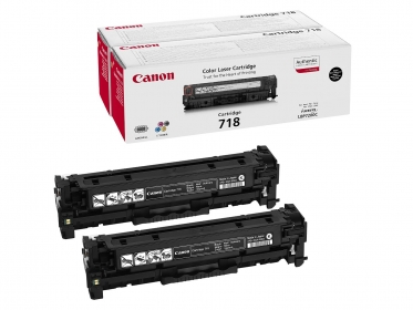 Canon CRG 718BK 2 db-os fekete toner (2662B005)