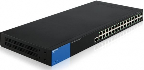 Linksys SMB LGS528 26port GbE LAN 2port GbE combo RJ45/SFP L2 menedzselhető Switch (LGS528-EU)