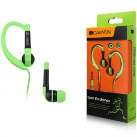 Canyon CNS-SEP1G mikrofonos zöld sport headset