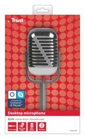 Trust Elvii fekete króm állványos mikrofon (20111)