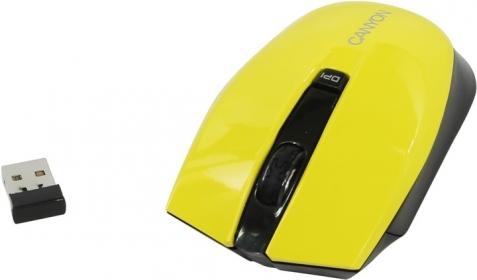 CANYON CNS-CMSW5 wireless optikai sárga-fekete egér (CNS-CMSW5Y)