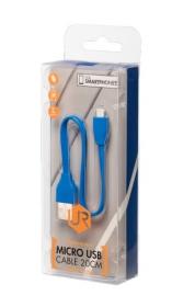 Trust 20140 kék 20 cm micro USB adatkábel
