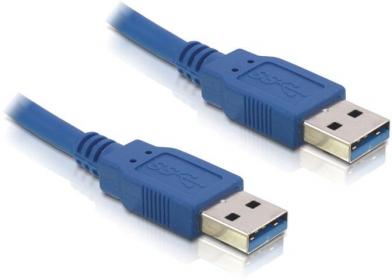 Delock USB3.0-A (apa/apa), 1 méteres kábel (82534)