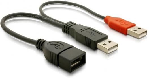 Delock USB Y adat- és táp kábel (65306)