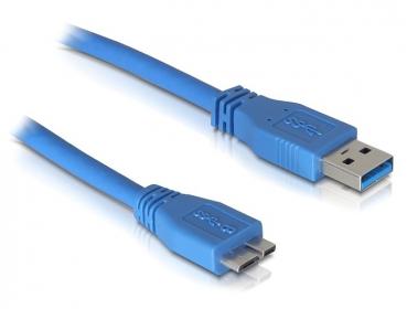 Delock USB3.0 A - Micro USB3.0 átalakító kábel, 3 m (82533)