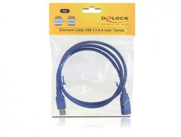 Delock USB3.0-A (apa/anya) hosszabbító kábel - 82538