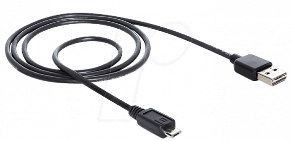 Delock EASY-USB 2.0 -A apa > USB 2.0 micro-B apa kábel (83368)