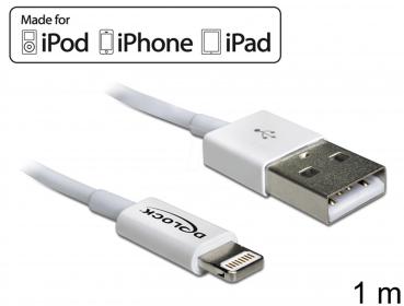 Delock USB adat- és töltőkábel iPhone, iPad és iPod készülékhez (83560)