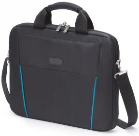 Dicota Slim Case Base  15.6''  fekete-kék notebook táska (D30997)