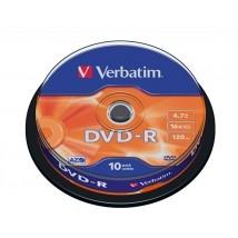 Verbatim DVDV-16B10  AZO, 4,7GB, 16x 10 db-os írható DVD-R lemez hengerben