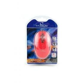 Esperanza Titanum Raptor USB optikai piros egér (TM102R)
