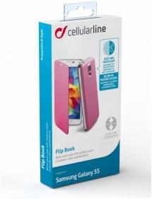 Cellularline Flip Book G900 Samsung Galaxy S5 rózsaszín kihajtható telefontok (BACKBOOKGALS5P)