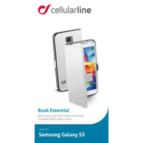 Cellularline Book G900 Samsung Galaxy S5  fehér telefontok (BOOKESSENGALS5W)