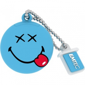 EMTEC Smiley Boldog 8GB USB 2.0 Kék Pendrive (SEMUSW1038)