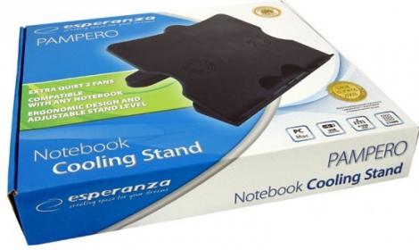 ESPERANZA PAMPERO Notebook hűtőpad 2 ventilátorral + 4xUSB port (EA103)