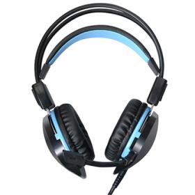 ACME Aula Succubus fekete-kék mikrofonos gamer fejhallgató
