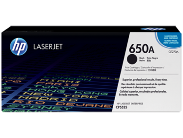 HP 650A fekete toner (CE270A)