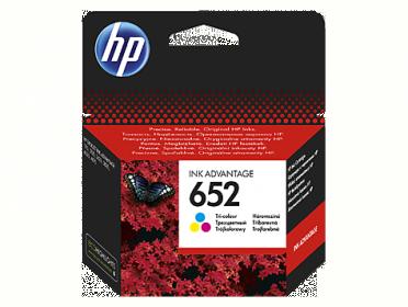 HP No 652 háromszínű tintapatron (F6V24AE)