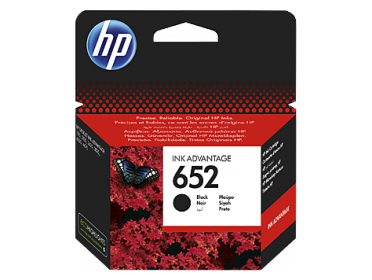 HP 652 fekete eredeti patron F6V25AE