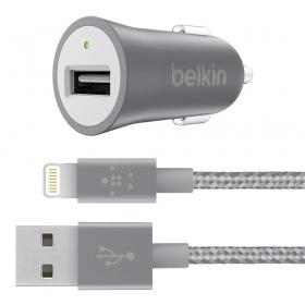 Belkin Premium Mixit KFZ szürke iPhone/iPad autós töltő (F8J186BT04-GRY)