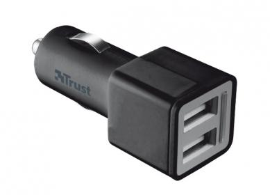 Trust 19171  2x USB fekete univerzális autós töltő