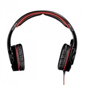 HAMA Fire Starter mikrofonos fekete-piros headset (53987)