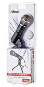 Trust Starzz fekete állványos mikrofon (16973)