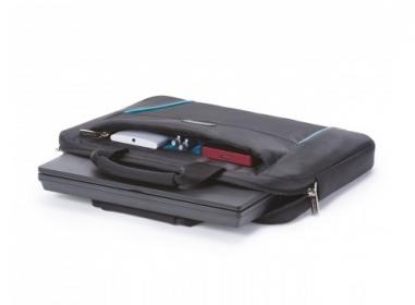 Dicota Slim Case Base 13,3'' fekete-kék notebook táska (D30993)