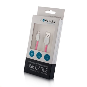 Forever USB iPhone 5 kábel Rózsaszín (FE319593)