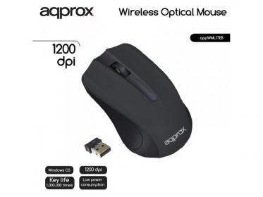 Approx WMLITEB wireless optikai fekete egér (APPWMLITEB)