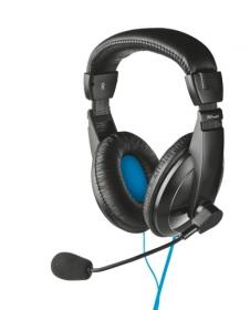 Trust Quasar USB mikrofonos fekete headset (16976)