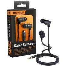 Canyon CNE-CEP01B fekete mikrofonos fülhallgató