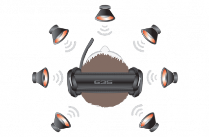 LOGITECH G35 fekete mikrofonos gamer fejhallgató (981-000549)