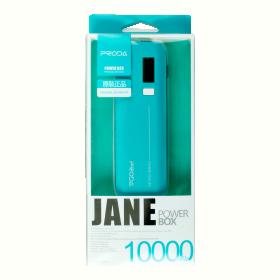 Proda JaneDual Indicator 10000 mAh türkízkék PowerBank (PRODA_126)
