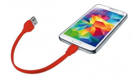 Trust 20141 piros 20 cm micro USB adatkábel