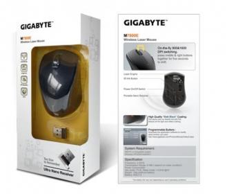 GIGABYTE M7800E wireless lézer fekete gamer egér(GM-M7800E-BCR)