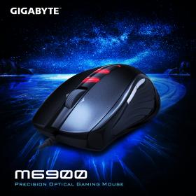 GIGABYTE GM-M6900 USB optikai fekete gamer egér