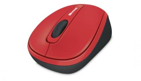 Microsoft 3500 wireless BlueTrack piros-fekete egér (GMF-00195)