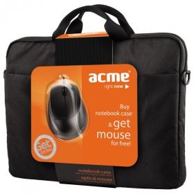 ACME 16M37 16'' fekete notebook táska+MS13 optikai egér